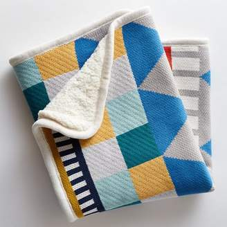 west elm Knit Cotton Baby Blanket - Geometric