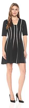 Julian Taylor Women's Fit and Flare Seamed Dress