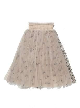 Snidel (スナイデル) - SNIDEL KIDSロゴ刺繍チュールスカート