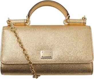 Dolce & Gabbana Gold Phone Bag