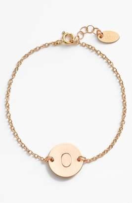 Nashelle 14k-Gold Fill Initial Disc Bracelet