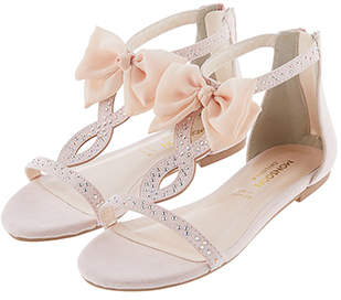 Monsoon Chiffon Bow Sparkle Sandals