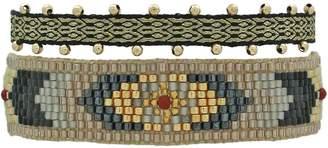 LeJu London - Set of Two Bracelets in Neutral Tones