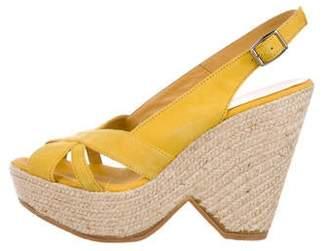Bettye Muller Crossover Platform Sandals