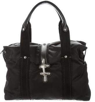 Fay Leather-Trimmed Nylon Tote
