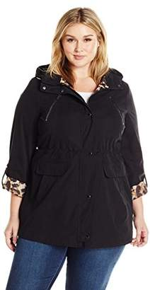 Lark & Ro Women's Plus Size Utility Jacket