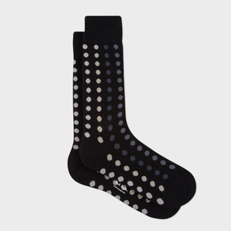 Men's Black Graduated Polka Dot Socks $30 thestylecure.com