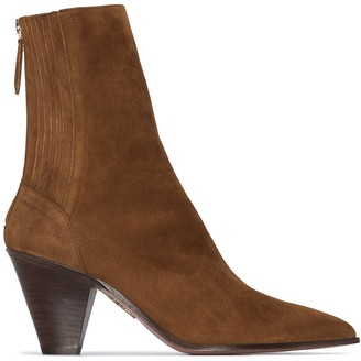 Aquazzura Saint Honore 70mm ankle boots