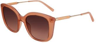 Calvin Klein Oversized Square Acetate/Metal Sunglasses