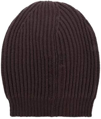 Rick Owens ribbed knit beanie