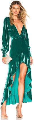 For Love & Lemons Viva Velvet Maxi Dress