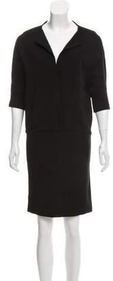 Leroy Veronique Wool Knee-Length Dress