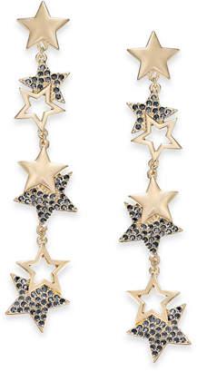 Thalia Sodi Gold-Tone Pave Drop Earrings