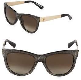 Gucci 55MM Glitter Butterfly Sunglasses