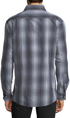 English Laundry Tie-Dye Check Sport Shirt