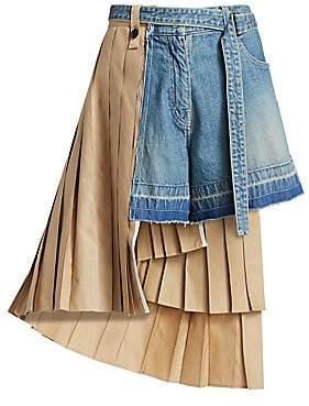 Sacai Women's Denim Shorts