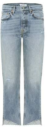 GRLFRND Helena cropped straight-leg jeans