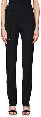 Helmut Lang Women's Elastic-Strap Wool Trousers - Black