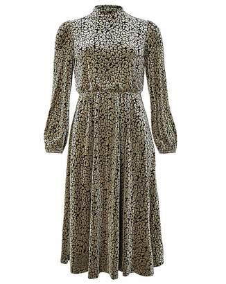 Moda In Pelle Monsoon Kylie Leopard Velvet Dress