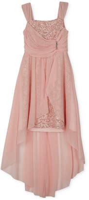 BCX Big Girls Plus High-Low Hem Lace Dress