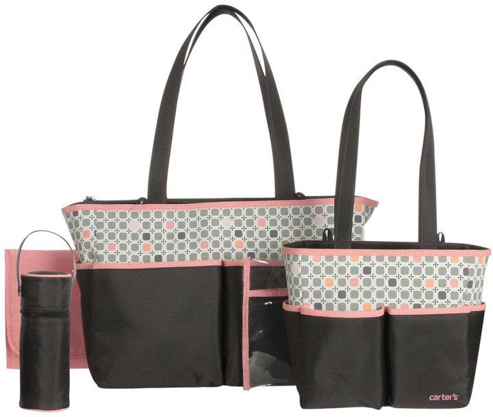 Carter's Diaper Bag Set - Brown/Pink