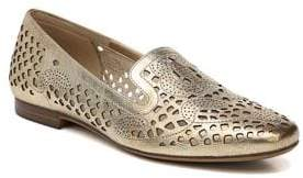 Naturalizer Eve Metallic Leather Laser Cut Loafers