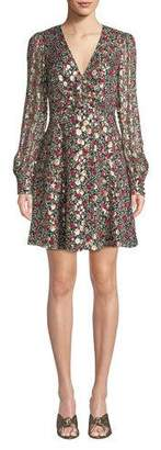 Kate Spade Floral Park V-Neck Dress