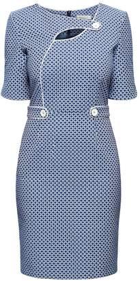 Rumour London - Francesca Polka Dot Dress With Keyhole Tab Neckline