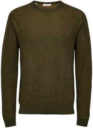 Selected New Jeff Crewneck Cotton Sweater