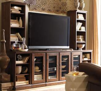 Pottery Barn Printer's Large Media Suite With Bookcases & Bridge