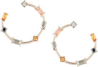 Fragments for Neiman Marcus Front-Facing Multi-Stone Hoop Earrings