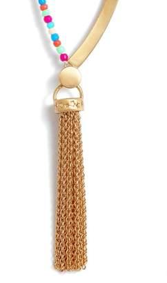 Rebecca Minkoff Sole Beaded Tassel Necklace