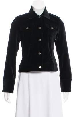 Alice + Olivia Velvet Long Sleeve Jacket