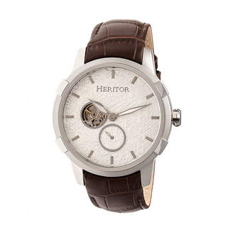 Heritor Unisex Brown Strap Watch-Herhr7203