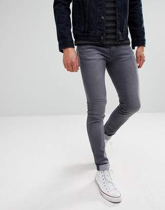 WÅVEN Super Skinny Spray on Jeans in Charcoal Gray