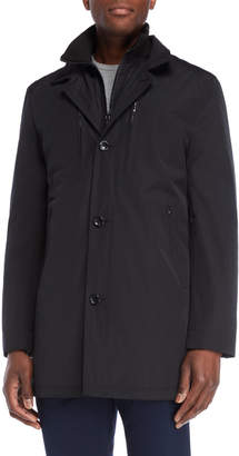 Michael Kors Navy Button Bib Coat