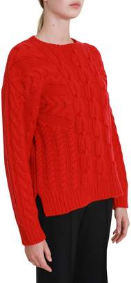 Cédric Charlier Cashmere And Wool Cablestitch Sweater