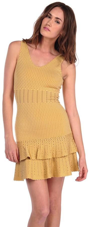 Torn By Ronny Kobo Ari Dress Crocodile Lurex