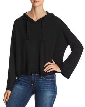 Andrew Marc Boxy Cropped Hoodie