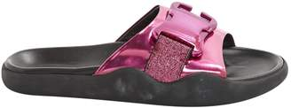 Christopher Kane Pink Leather Sandals