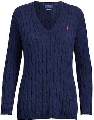 Polo Ralph Lauren Cable-Knit Side-Slit Sweater $125 thestylecure.com