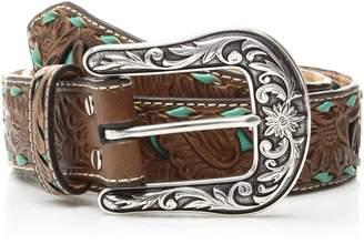 Nocona Belt Company Belt Co. Women's Turquoise Inlay Buck Belt