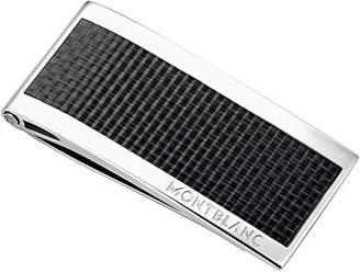 Montblanc Steel and Black Carbon Money Clip 104731