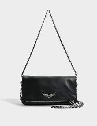 Zadig & Voltaire Rock Bag in Black Cow Leather