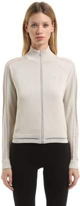adidas Knit Track Jacket W/ Sheer Stripes