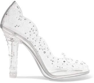 Dolce & Gabbana Cinderella Crystal-embellished Pvc Pumps - Silver