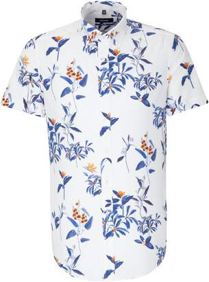 Seidensticker Statement Prints by Legguino Birds of Paradise Short Sleeve Sport Shirt
