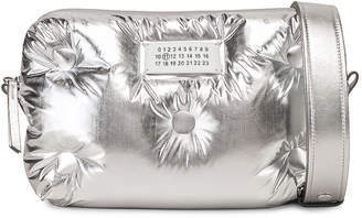 Maison Margiela Glam Slam Crossbody Bag in Silver | FWRD