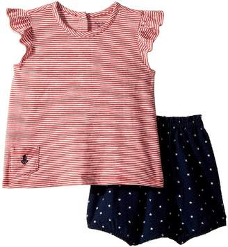 Ralph Lauren Striped Top Bloomer Set Girl's Active Sets