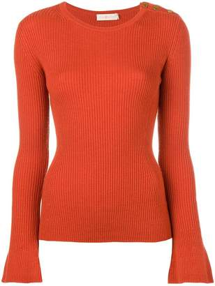 Tory Burch fitted ribbed knitted jumper